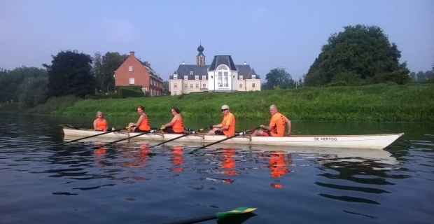 Oranjegloed over de Dommel